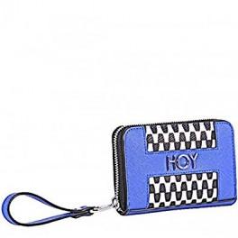 Portafoglio zip Black&White Hurrà Wallet di Hoy cm 14 x 9 x 2 in ecopelle con fantasia black&white geometrica 8011410235908