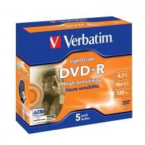 Verbatim DVD-R 4.7GB Lightscribe - Confezione da 5