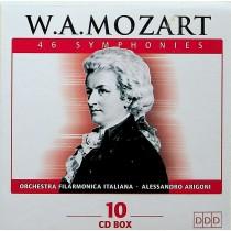 MOZART 46 SYMPHONIES  BOX 10 CD