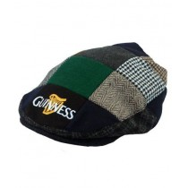 Guinness Official Merchandise - Harp Embroidered Flat Cap, Cappello da uomo 5390763190083